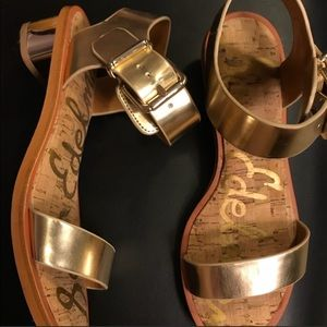 Sam Edelman Gold Heeled Sandals